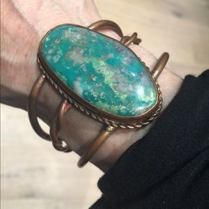 Jewelry - Healing Copper and powerful Turquoise Cuff